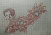 アイアンマン 彫ってみた 顔見せ