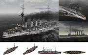 MMD用モブ装甲巡洋艦1901セット