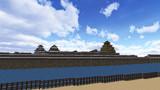 大坂城復元プロジェクト―二之丸東部より天守、小天守群を望む―