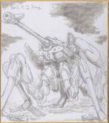 今日の色紙#21「ヴェクタ零式6脚歩行戦車・タケミカヅチ」