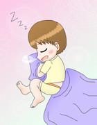 赤ちゃんのように眠るまめすけくん