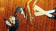 【切り貼り絵】黒谷 ヤマメ