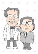 【似顔絵】 昭和を代表する漫画家w