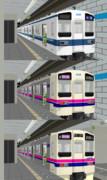 【MMDテクスチャ変更】東武8000系から京王9000系もどきを作ってみた【画像加工】