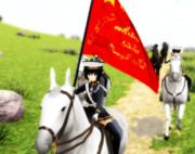 チヨちゃん騎馬隊先導