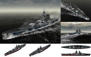 MMD用モブ超弩級戦艦1943セット(モッブリュー)