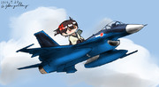 加賀さんと三菱F-2戦闘機