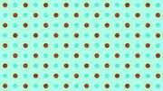 水玉チョコミント背景【フリー素材】