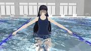 八尺様の水着コスプレ・・・。