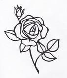 【切り絵】薔薇
