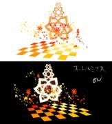 紅葉と銀杏と紐のステージ