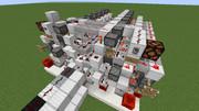 【Minecraft】16進メモリ作った