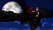 夜空に舞う正体不明コンビ