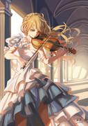 バイオリンを弾く