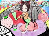 Alice Nyanko in sweet basket ship