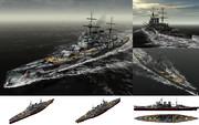 MMD用モブ巡洋戦艦1943セット(モブウン)