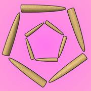 五角形のゴボウ