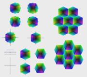 六角形と、その六角形を90度回転した六角形を重ねてみた