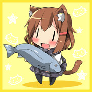 雷「司令官お魚あげる」
