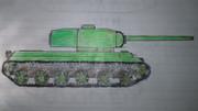 学校で書いた戦車①