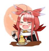 マロンを食べるまろーん