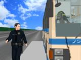 警察だ!ドアを開けろ、そのまま走り続けろ!