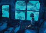 夢行き   海中