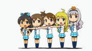 GIFアニメ 響ちゃんの誕生日を祝うダンス