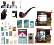 マヌヤシ兄貴とたばこセット