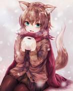 モコモコ冬服ケモミミ娘