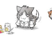 ネズミ提督と荒潮ネコ