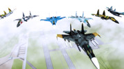 【MMD】基地上空を 飛ばしてみた