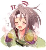 「焼き芋…食べりゅ?」