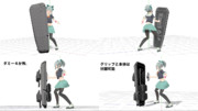 【MMDモデル配布】艦娘用装甲(盾)