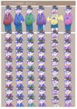 おそ松さん六つ子立ち絵素材(差分あり)