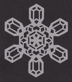 【切り絵】雪の結晶3