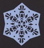【切り絵】雪の結晶4