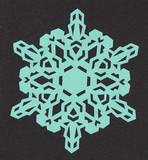 【切り絵】雪の結晶5