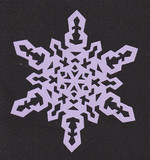 【切り絵】雪の結晶6