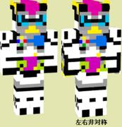 マイクラスキン 仮面ライダーレーザー バイクゲーマー レベル1