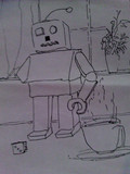 右手を失ったロボット