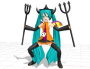 【MMDモデル配布】あにまさ式改変ハロウィンミク【Trick or Treat!】