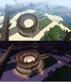 【Minecraft】PS4で街作り中!!  コロシアム