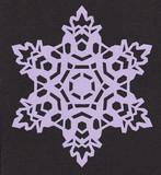 【切り絵】雪の結晶9