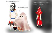 ハロウィンにちゃっちぃ仮装でお菓子に有りつこうとしてそうな幻想少女