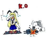 格闘ゲーム版艦これ、島風の負けモーション
