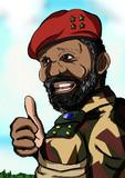 アンゴラ全面独立民族同盟指導者ジョナス・サヴィンビ