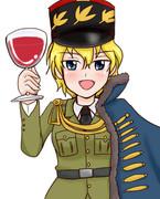 アスパラガスと大人のブドウジュース