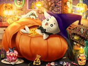 かぼちゃスープゴマちゃん入り