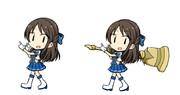 ハイファイ☆デイズの狩猟笛を担ぐポーズ